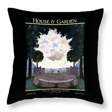 A French Formal Garden Throw Pillow
