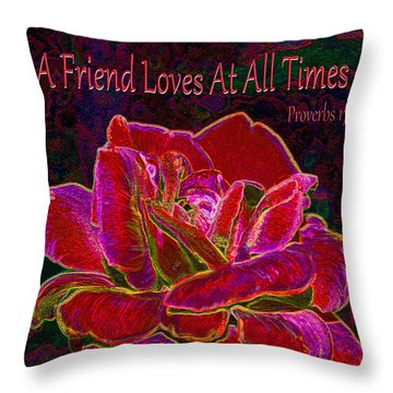 A Friend Loves At All Times Throw Pillow