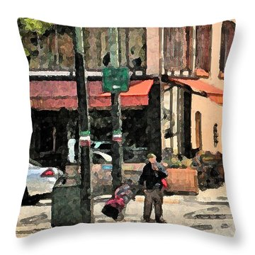 A Frisco Street Throw Pillow