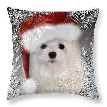 A Frosty Morning Throw Pillow by Morag Bates