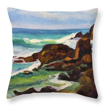 Throw Pillow featuring the painting A Frouxeira Galicia by Pablo Avanzini