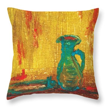 Throw Pillow featuring the painting A Fulfillment by Helena Bebirian