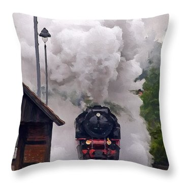 A Full Head Of Steam Throw Pillow