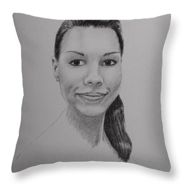 A G Throw Pillow