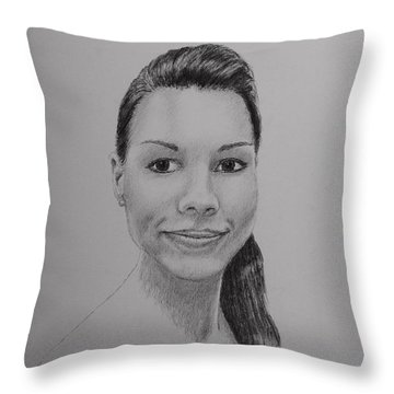 A G Throw Pillow by Daniel Reed