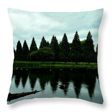 A Gaggle Of Pines Throw Pillow