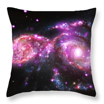 A Galactic Get-together Throw Pillow