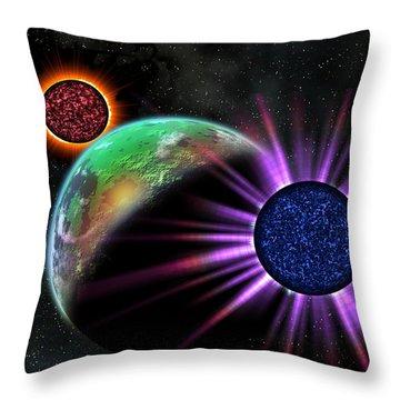 A Galaxy Far Far Away Throw Pillow by Camille Lopez