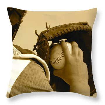 A Game Of Catch Throw Pillow