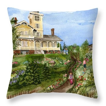 A Garden For All Ages Throw Pillow by Nancy Patterson