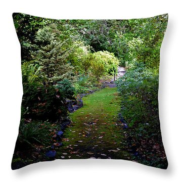 A Garden Path Throw Pillow