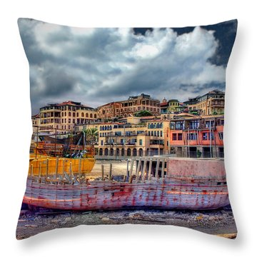 Throw Pillow featuring the photograph A Genesis Sunrise Over The Old City by Ronsho