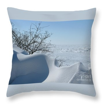 Throw Pillow featuring the photograph A Gentle Beauty by Ann Horn