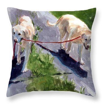 A Gentle Lead Throw Pillow by Molly Poole