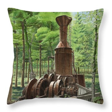 A Ghost In The Forest Throw Pillow
