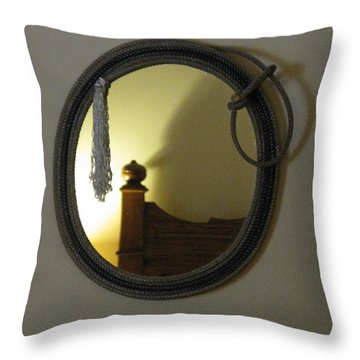 A Ghost Of The Cowboy Throw Pillow by Ausra Huntington nee Paulauskaite