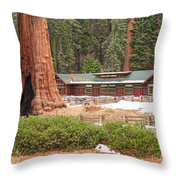 A Giant Among Trees Throw Pillow