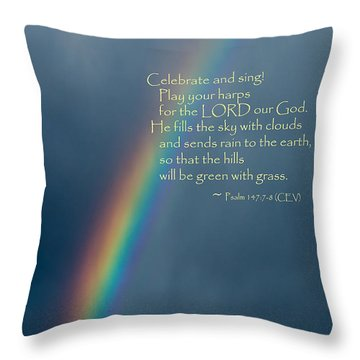 A Gift From God Throw Pillow by Mick Anderson