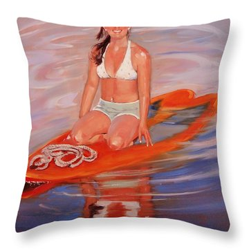 A Gift Of Jenna Throw Pillow by Laura Lee Zanghetti