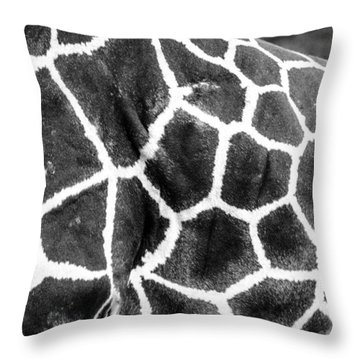 A Giraffe's Maze Throw Pillow