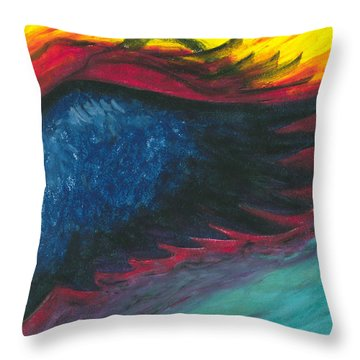 A Glimpse Of Fire On The Wing Throw Pillow
