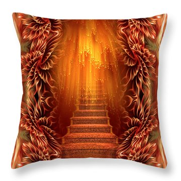 Throw Pillow featuring the digital art A Glimpse Of Heaven - Soothing Art By Giada Rossi by Giada Rossi