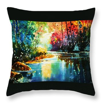 A Glow In The Forest Throw Pillow