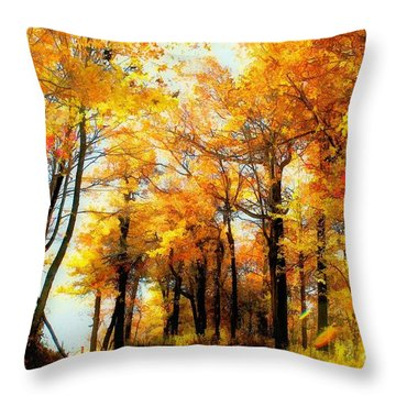 A Golden Day Throw Pillow