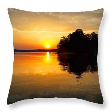 A Golden Moment Throw Pillow
