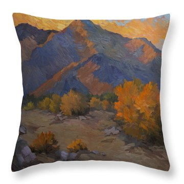 A Golden Sky Throw Pillow