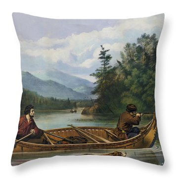A Good Chance Circa 1863 Throw Pillow by Aged Pixel