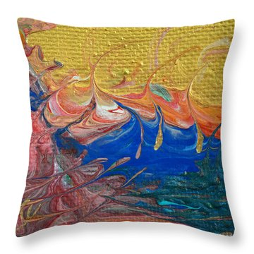 A Good Day For Sailing Throw Pillow by Donna Blackhall
