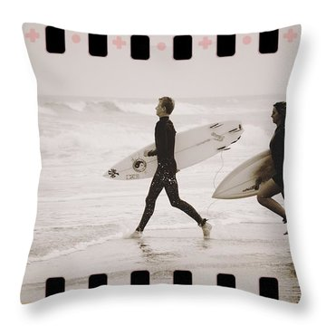 Throw Pillow featuring the photograph A Good Day To Surf by Alice Gipson