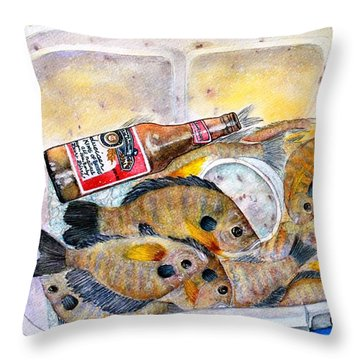 A Good Fish'n Day Throw Pillow