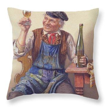 A Good Vintage Throw Pillow by Peter Kraemer