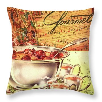 A Gourmet Cover Of Apples Throw Pillow