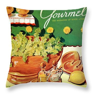 A Gourmet Cover Of Dandelion Salad Throw Pillow