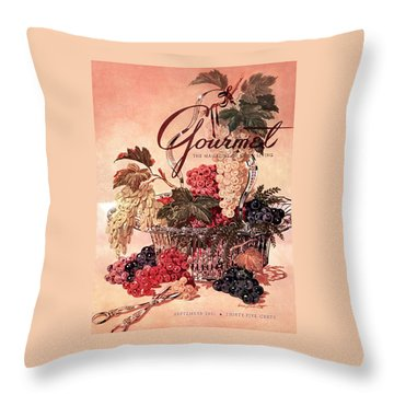 A Gourmet Cover Of Grapes Throw Pillow