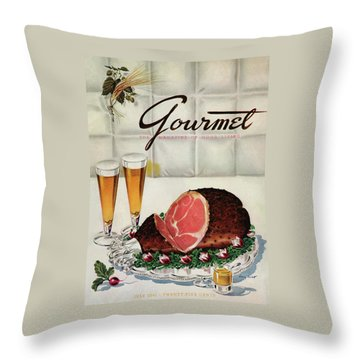 A Gourmet Cover Of Ham Throw Pillow