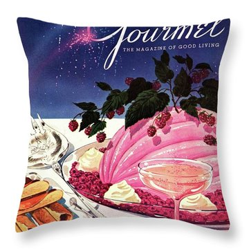 A Gourmet Cover Of Mousse Throw Pillow
