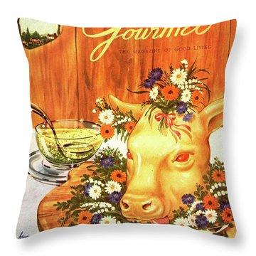 A Gourmet Cover Of Tete De Veau Throw Pillow