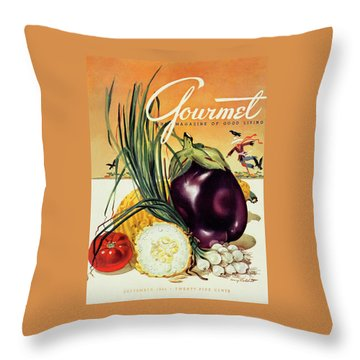 A Gourmet Cover Of Vegetables Throw Pillow