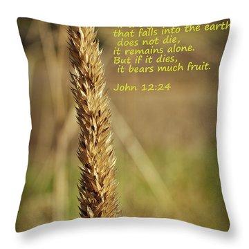 A Grain Of Wheat Throw Pillow