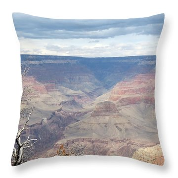 A Grand Canyon Throw Pillow by Laurel Powell