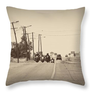 A Grand Entrance Throw Pillow by Linda Lees