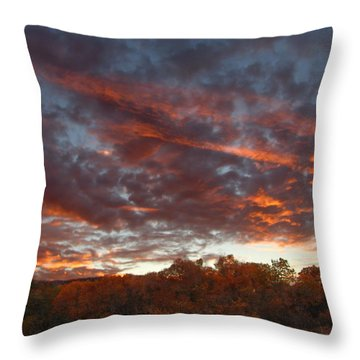 A Grand Sunset 2 Throw Pillow by Glenn McCarthy Art and Photography