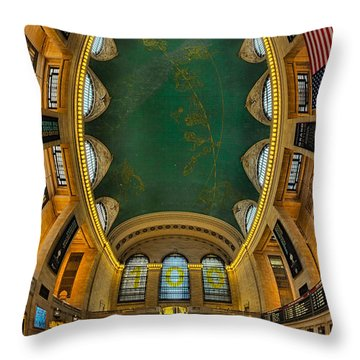 A Grand View  Throw Pillow by Susan Candelario