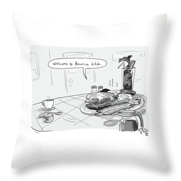 A Greasy Plate Of Pancakes Throw Pillow