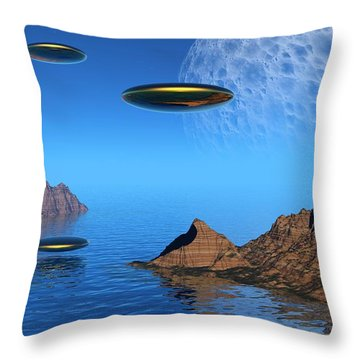 Throw Pillow featuring the digital art A Great Day For Flying by Lyle Hatch