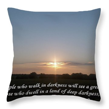 A Great Light Throw Pillow by Robyn Stacey